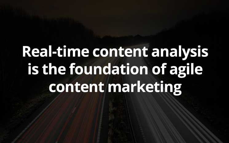 Real-time content analysis