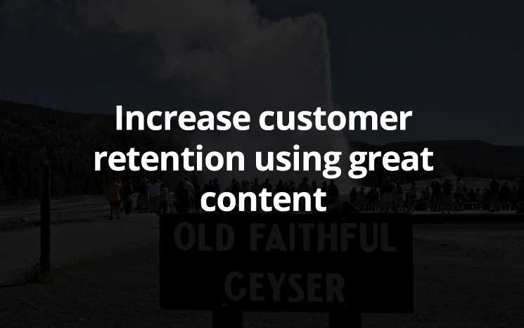 increase customer retention