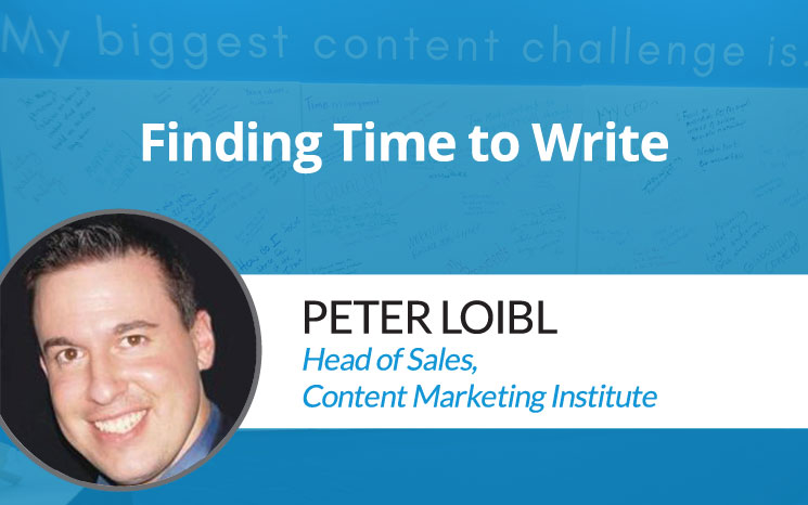 Finding Time to Write w/ Peter Loibl