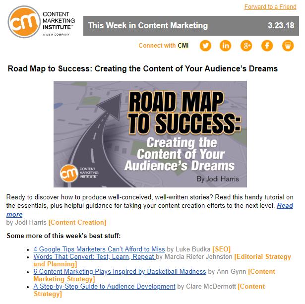 Content Marketing Newsletter - CMI