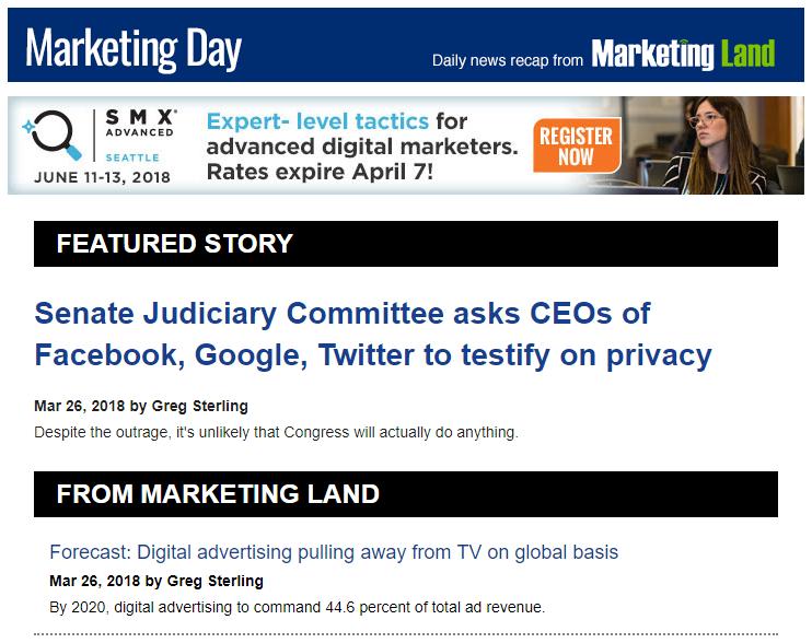 Content Marketing Newsletter - Marketing Land